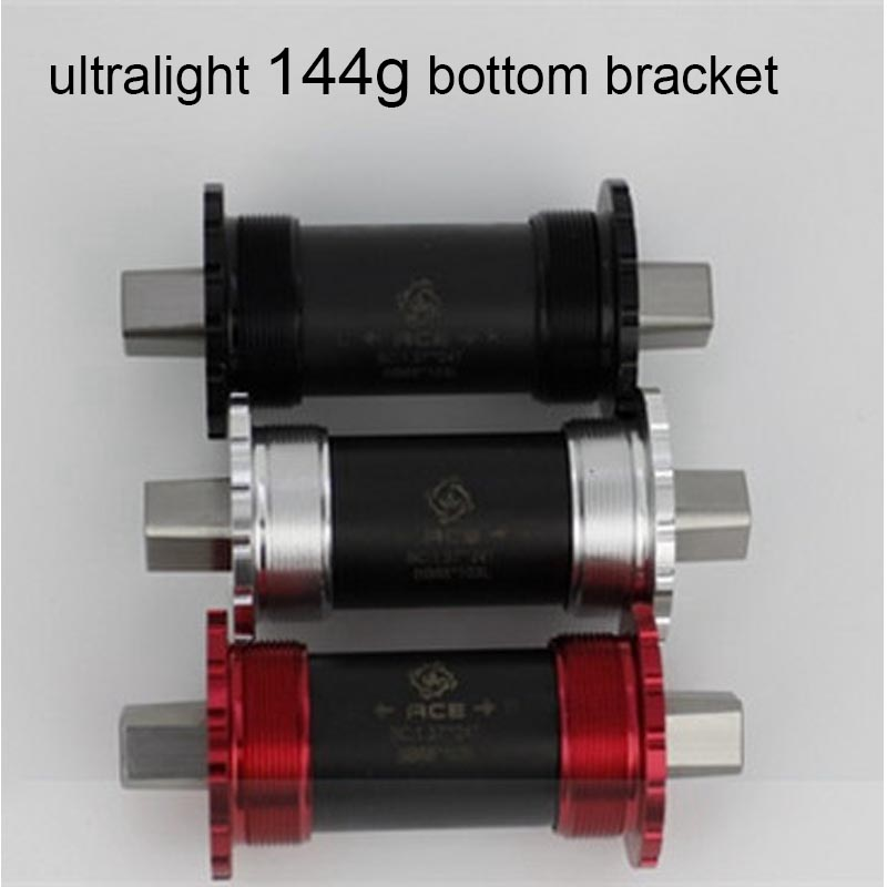 3 colors ultralight 144g Titanium square taper bottom bracket 119mm for brompton bike <br>