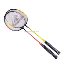 Fast Delivery 1 Pair Aluminum Carbon Badminton Rackets Sports Training Lenwave Brand Free Shipping(China)