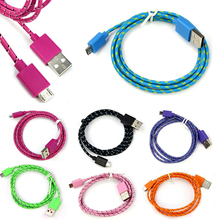 hillsionly 2016 Newest Hemp Rope Micro 5 Color USB Charger Charging Sync Data Mobile Phone Cable Cord for Samsung Android