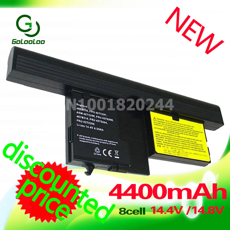 Golooloo 4400mAh Laptop Battery for Lenovo ThinkPad X61 X60 Tablet PC 40Y8314 40Y8318 42T5209 42T5204 42T5206 42T5208 42T5251<br>