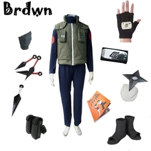 Naruto Copsplay Konoha Ninja Hatake Kakashi Suit Unisex Party Halloween Costume Including Vest Shoes Headband Kunai Gloves set
