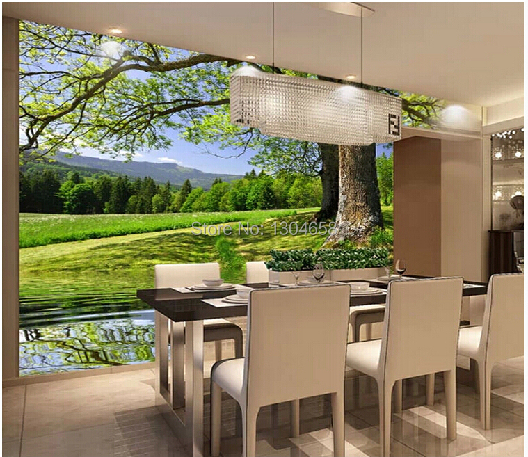 Custom landscape wallpaper,Natural scenery space expansion,modern 3D wallpaper murals for TV bedroom sofa background wall<br>