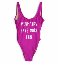 Women's size Large Clubbing One Piece Festival Tankini fashion graphics Bodysuit Mermaid HAVE MORE FUN Bathing Suit Swimsuit