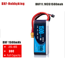 Buy 2017 DXF High Lipo Power 11.1V 1500MAH 30C 3S Battery XT60 Plug Rechargeable Lipo Battery rc car drone truck fpv for $14.15 in AliExpress store