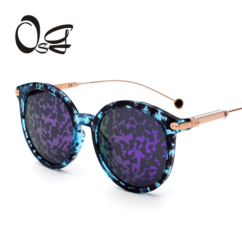 OSG Cat Eye New sunglasses women fashion PC+metal frame Colorful lenses brand designer vintage Oval sun glasses for men oculos d<br><br>Aliexpress