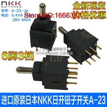 Import button switch A-23 A-23JP swing switch 6 feet 3 gear fluctuation switch(China)