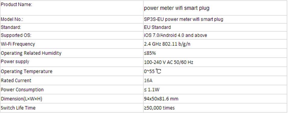 image for Broadlink SP3S EU/Contros Smart Wireless WiFi Socket Power Plug 16A 35