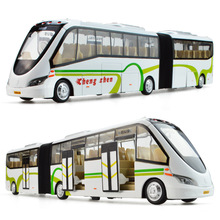 Double bus, high simulation bus model,1:32 scale alloy pull back cars,metal big toy car,gift toys,free shipping