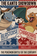POKEMON - TV SHOW / GAMING POSTER (RED VS. BLUE) Art Silk Poster Print Home Wall Decor