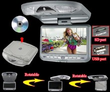 New 9 inch Roof Mount Car DVD Player with 32bit Game+MPEG4+USB+SD+FM+IR