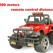 Alloy 1:14 28CM Resistance to fall Charge High Speed drift RC Toy Car BigFoot Hummer SUV Lights&Shock Absorption Xmas Kids gift(China)