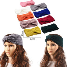Fashion Solid Knitted Headband Corn Kernels Hair Accessories for Women Crochet Turban Head Wrap Girl Stretch Headwear Ornaments
