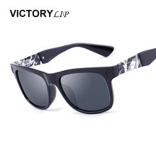 VictoryLip Camo Frame  Head Hippie Brand Designer Men Women Square Sunglasses Cool Male Female UV400 Sun Glasses Super deal