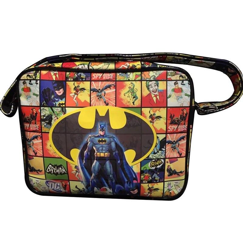DC Marvel Comics Bat-men Messenger Bags The Avengers Batman Superman Spiderman Deadpool Thor Leather Shoulder Bag for Men Women<br><br>Aliexpress