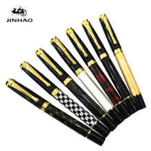 6 Colors Jinhao 500 Executive White and Golden M Nib Fountain Pen High Quality Hot Selling luxury writing gift pens