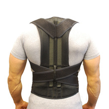 Men Posture Corrector Orthopedic Shoulder Pain Lumbar Corset Back Brace Belt Straps Adjustment Male Belt Therapy Posture