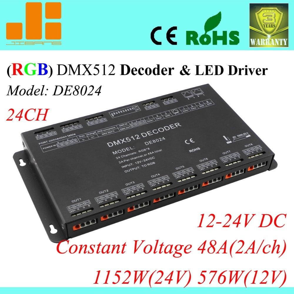 Free Shipping DMX Decoder & LED Driver 3 Ch RGB Controller Input ...