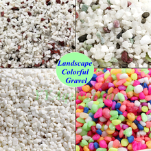 Nature Snow white Gravel Aquarium colored stone Fish tank Landscape Garden selective Sand Pebble Rock Decoration 250g 0.5-1-2CM