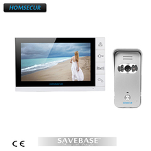 "HOMSECUR Wired Video Door Phone Doorbell 9"" Lcd Monitor Ir Camera Of Home Intercom 1V1(China)"