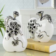 New Europe cerimic Carving Handicraft Creative Home Furnishing Articles apple ceramic arts and crafts TV ark Decoration(China)
