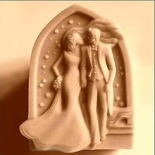 Wedding Kiss Shaped Soap Mold,Resin Clay Chocolate Candy Silicone Cake Mould,Fondant Cake Decorating Tools(China)
