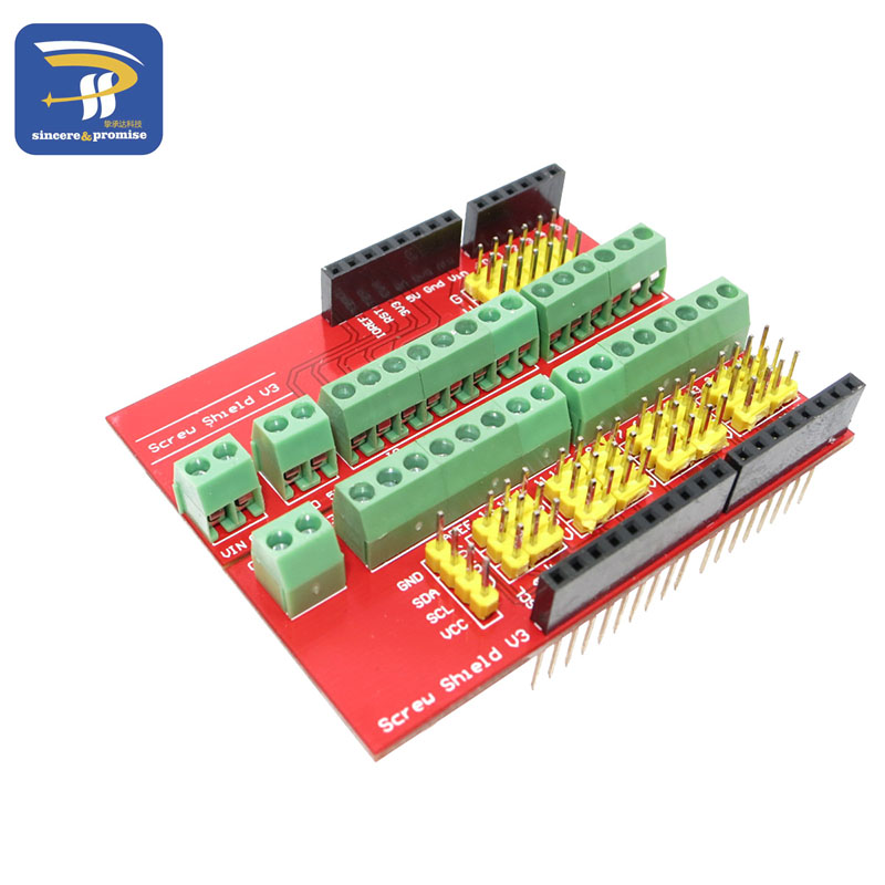 Screw Shield V1 terminal v3 expansion board is compatible UNO R3 Interactive Media For arduino