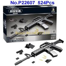 AUSINI P22607 524pcs Military Assault Rifles M16 Gun Building Blocks Brick Toy