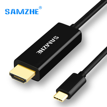 SAMZHE USB 3.1 USB C to HDMI Cable Type C to HDMI Converter 4K 30Hz UHD External Video Graphics Extend Cable/Adapter 1.2m(China)