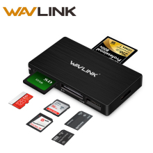 Wavlink All in 1 USB 3.0 SD TF SD SDXC SDHC MS CF M2 Card Reader Adapter High Speed Memory Card Reader with 50cm Extension Cable