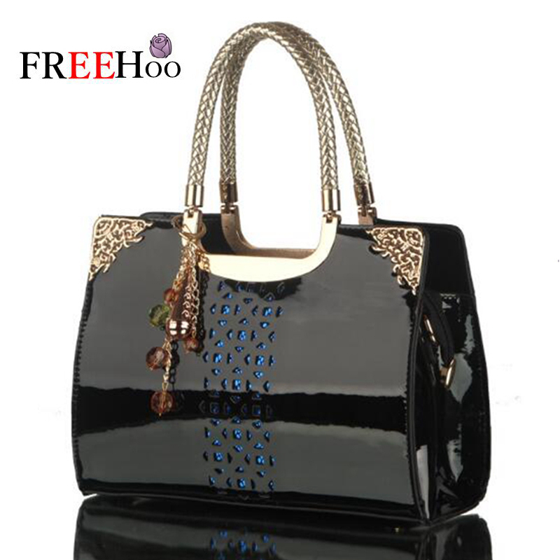 New brand patent leather jacket bag-cut fashion handbag lady bag Shoulder bag<br>