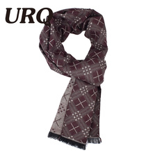 [URQ] New Trend Man Warm Long Soft Winter Scarf Unique Design Man Soft Touch No Skin harm Neck Wraps Business Man A3A18906(China)