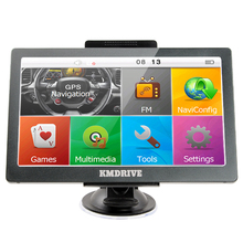 KMDRIVE 7 inch Car Truck GPS Navigation 256M RAM 8gb support Russia/EU/N&South America/Asia/Africa/AU NZ Maps(China)