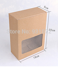 22*16*8CM,Paper Box with Window Bakery Cake Gift Packaging Box Carton Box ,120pcs/lot