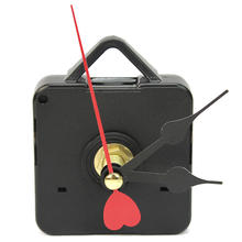 Fashion Quartz Clock Mechanism Movement Parts Repair Replacement Tool Kit with Black Red Heart Design Hands