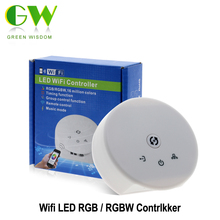 LED RGB/RGBW Wifi Controller DC12-24V With 21Key RF Controller For RGB/RGBW LED Strip Lights.(China)