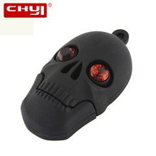 CHYI Cool Cartoon USB Flash Drive Pen Driver Halloween Black Skull Shape Memory Stick 16GB 32GB 64GB Pendrive For Gift Hot Sale(China)