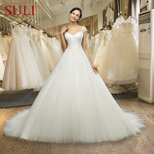 ML-0030 Vestido De Noiva Sexy Wedding Dress Custom Made Ivory  Lace Cap Sleeve Bride Gown Lace Wedding Dresses