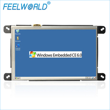 W759 7 Inch Industrial Embedded PC WinCE 6.0 Linux with Lan Port RJ45 RS232 All-in-one Open Frame Panel Computers Feelworld