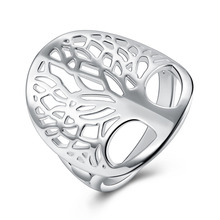 wholesale Price cute women silver Ring tree of Life charms wedding jewelry girl gift high quality fashion classic jewelry R891(China)