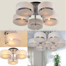 Free Shipping Acrylic Chandelier with 5 lights (Chrome Finish) 50% off after you place the order 110-220v