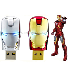 Hot Sale Iron Man Usb 2.0 Flash Drive 8GB 16GB Pen Drive usb stick 128GB 64GB 32GB Metal Pendrive U disk memory stick Flash Disk(China)