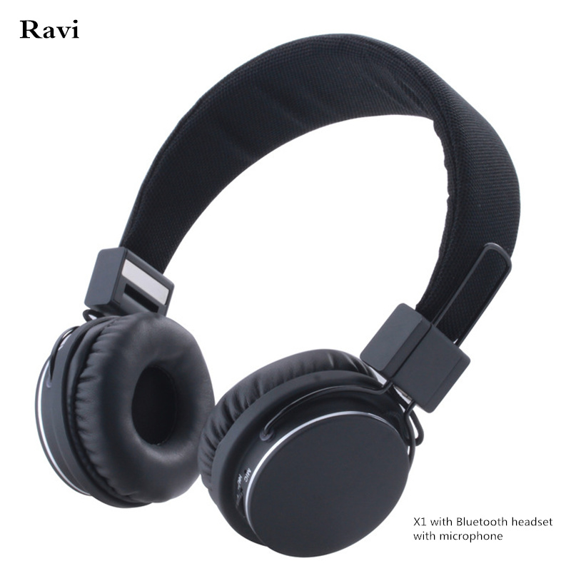 Ravi Wireless Headphones Headset Bluetooth 4.1 Foldable microphone headset for Samsung xiaomi Apple phone and computer<br>