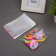 100Pcs 7X10cm Clear Zip Lock Poly Bag Self Adhesive Seal Reclosable Plastic Small Gift Baggies Jewelry Candies Packing Bags(China)