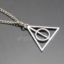 Hot Movie Harry Potter Deathly Hallows Metal Retro Necklace Pendant