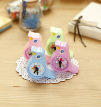 cute novelty kawaii cartoon animal bird candy color Pencil Sharpeners Cutter Knife Promotional Gift Stationery wholesale