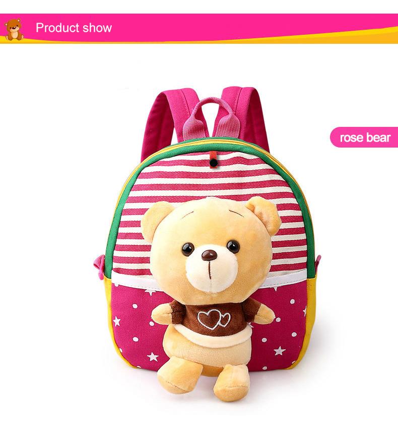 Korean Style Children Toddler Cartoon Stuffed Plush Backpacks baby girls boys cute toys schoolbag backpack (12)