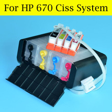 4 Color Ciss For HP 670 Continuous Ink Supply System For HP Deskjet 3525 5525 4615 4625 Printer With HP670 Auto Reset Chip