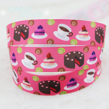 "7/8"" (22mm) printed grosgrain watermelon red candy cake ribbon colored decoration ribbons"