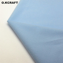 50*150cm Sky Blue Solid Color Fleece Fabric Plush Cloth for Sewing Velvet Fleece Doll Tissue Fusible Loop Fabric Tilda Felt