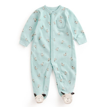 Baby Print dog dot Soft Cotton Rompers Newborn Baby Boy Girl Romper Clothes Jumpsuit Baby Roupa Infantil Menino Kid Set Sliders